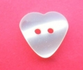 15mm Ivory Heart Sewing Button
