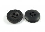 15mm FARAH 1920 Dark Brown Sewing Button 4 Hole
