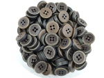 13mm Swirl Edge Brown 4 Hole Sewing Button