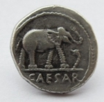 15mm Coin Elephant Silver Shank Metal Button