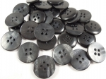 100 x 18mm Marble Black Wholesale Sewing Buttons