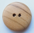 21mm Wood Round Sewing Button