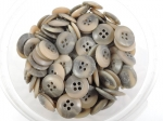 100 x 16mm Brown Sewing Buttons 4 Hole