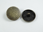 12mm Wavy Brass Shank Metal Button