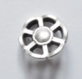 Metal Button Silver Wheel Shank 13mm