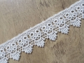 Guipure Lace Trimming White 42mm