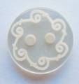10mm Cream Pattern Sewing Button
