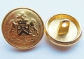 17mm Gold Coat Of Arms 3 Lions Metal Button