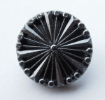 23mm Black Silver Shank Sewing Button