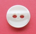 Tiny Cream Shadow Stripe Sewing Button 10mm
