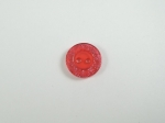 Red Glitter Edge Sewing Button 13mm