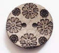 Sewing Button Coconut Shell Flower Floral 22mm