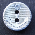 12mm Anchor Silver Sewing Button 3440