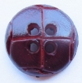Leather Look Sewing Button 15mm Brown 4 Hole