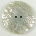 45mm Laser Etched Pattern Marble Iridescent Cream Sewing Button