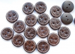 31mm Crocodile Skin Look Sewing Button