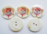 23mm Coat Of Arms Agoya Shell Mother of Pearl Button
