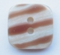17mm Square Stripe Sewing Button