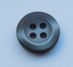 11mm Shadow Stripe Black 4 Hole Sewing Button