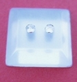 Rhinestone Sewing Button Square 12mm