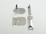 Trouser Skirt Hook and Bar Fasteners Silver 12mm