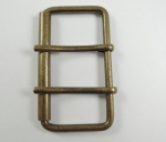 Belt Buckle Double Buckle Metal 30mm Bronze