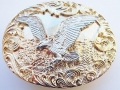 Large Gold and Silver Eagle Belt Buckle 3.5 Inch