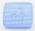 Rectangle Shape Blue White Sewing Button 13mm