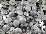 100 X 22MM SILVER COAT OF ARMS BADGE CREST SHANK COAT JACKET SEWING BUTTONS