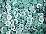 1000 x 15mm Green 4 Hole Sewing Buttons Wholesale
