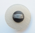 23mm Black and Grey Shank Sewing Button