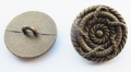 15mm Bronze Rope Pattern Metal Button