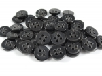 13mm Aran Dark Brown Sewing Button 4 Hole