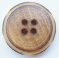 Wood Sewing Button 4 Hole 22mm Burnt Brown