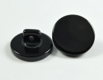 25mm Plain Black Shank Sewing Button