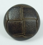 Leather Look Sewing Button 15mm Chocolate Brown