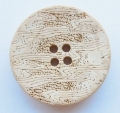 Wood Sewing Button 4 Hole 26mm Light Brown
