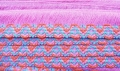 46mm Cotton Fabric Trimming Pink Coloured