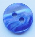 13mm Marble Blue Sewing Button