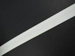 Folded Flat Elastic Ivory White 20mm