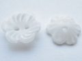 15mm Flower Shape Sewing Button White