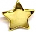 Novelty Button Christmas Star Gold 15mm