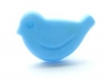 Novelty Button Blue Bird 14mm