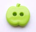 Novelty Button Apple 14mm Green