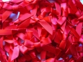 100 Satin Ribbon Bows 7mm Red