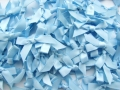 100 Satin Ribbon Bows 7mm Light Blue