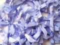 100 Satin Ribbon Bows 7mm Lavender