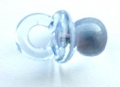 Novelty Button Baby Dummy Clear Blue 20mm