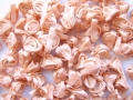 100 Satin Ribbon Roses 12mm All Peach