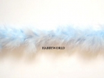 Marabou String Feather Boa 10m Light Blue